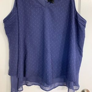 Sleeveless blouse periwinkle blue